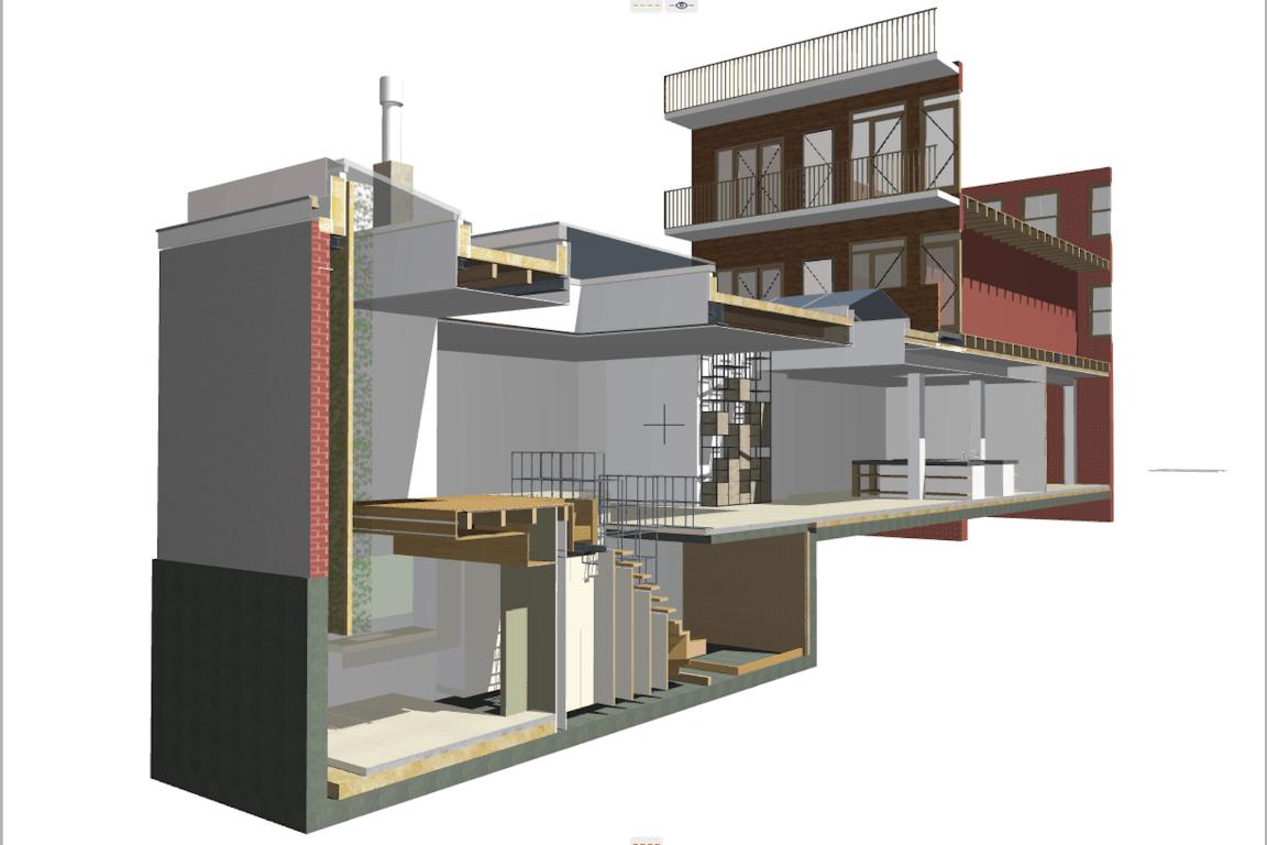 3D BIM model Kerkstraat Amsterdam