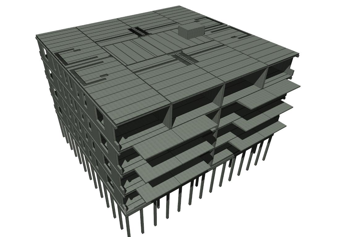 Standaard betoncasco appartement